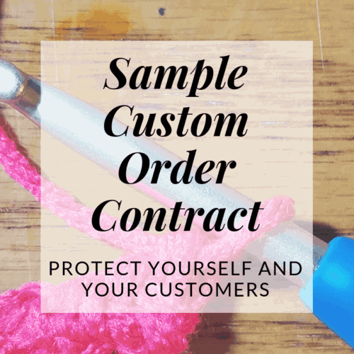free downloadable custom order contract | Hooked by Kati