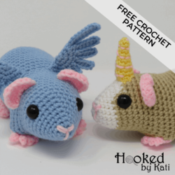 guineacorn pigasus free amigurumi crochet pattern | Hooked by Kati