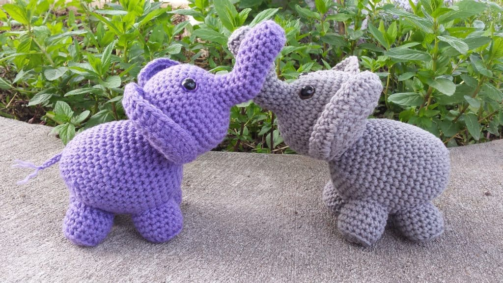 Free Elephant Amigurumi Crochet Pattern | Hooked by Kati