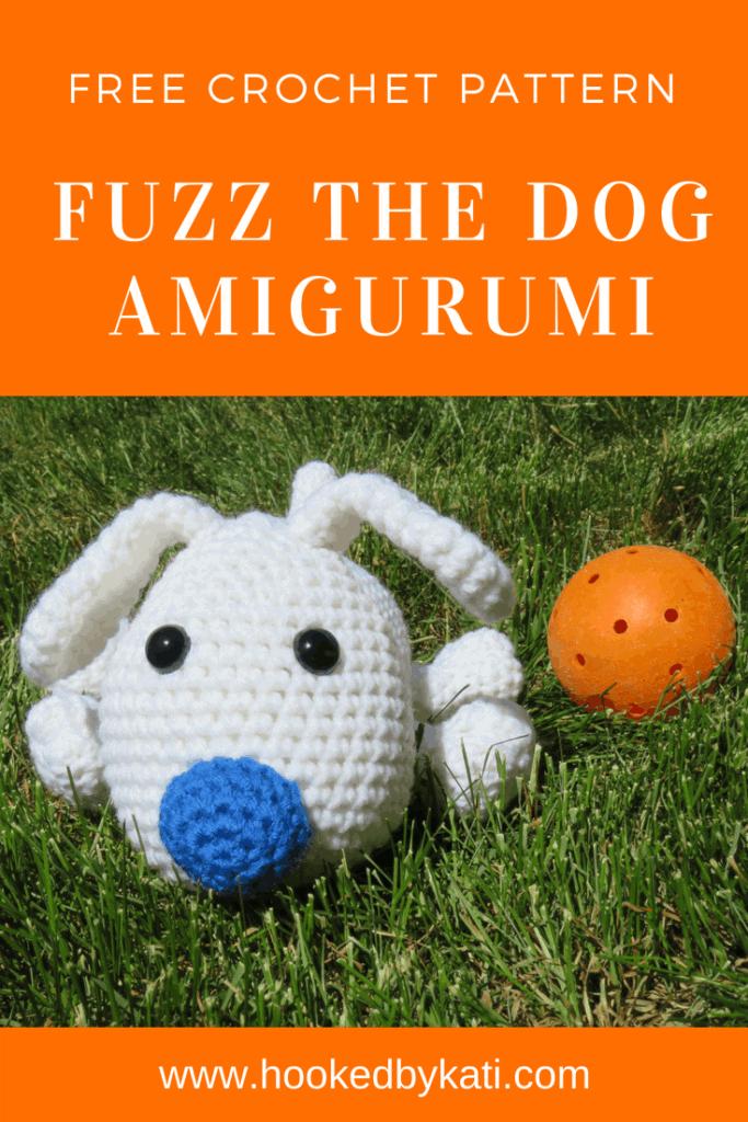 Free Crochet Pattern, Amigurumi, Fuzz the Dog   Hooked by Kati