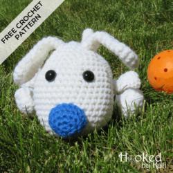 fuzz the dog free crochet pattern hooked by kati
