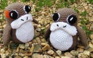 Porg Amigurumi Free Crochet Pattern | Hooked by Kati