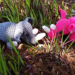 Free Rhino Crochet Pattern | Rhino Amigurumi | Hooked by Kati