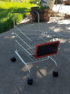 Upcycled Cart for Craft Fair Booth