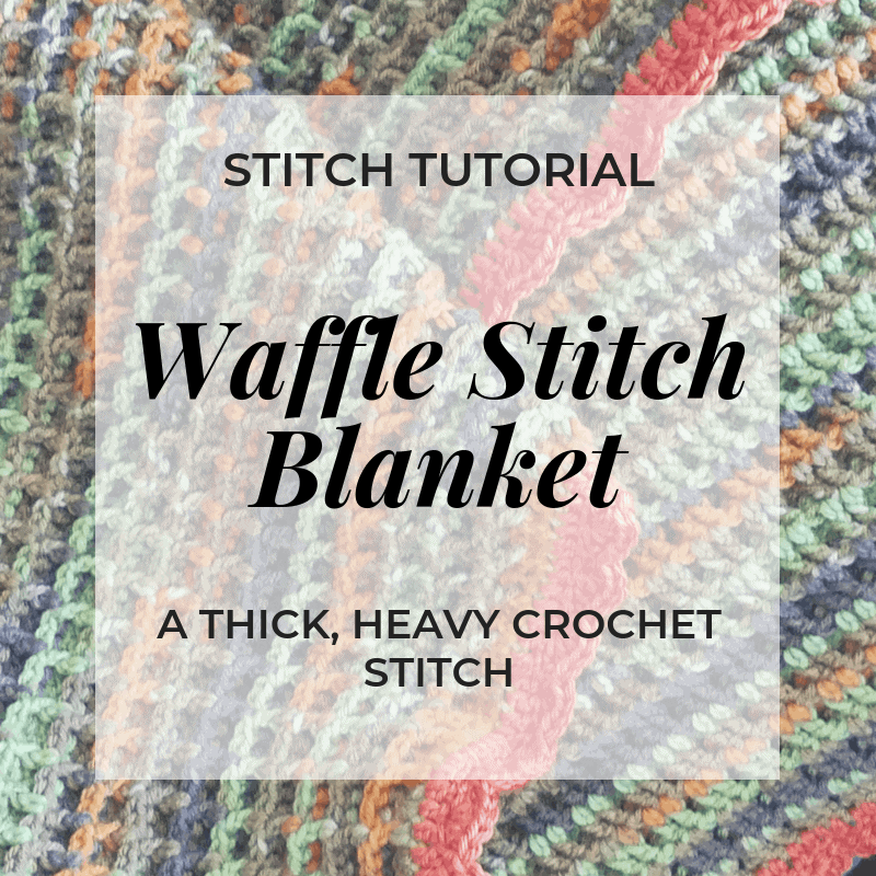 waffle stitch blanket video tutorial crochet | Hooked by Kati