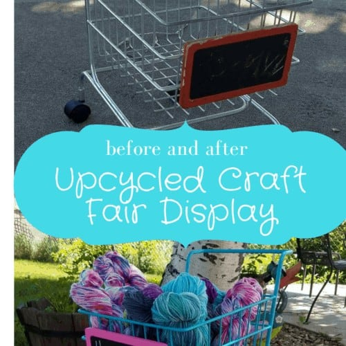 Upcycled Cart for Craft Fair Display | Hooked by Kati