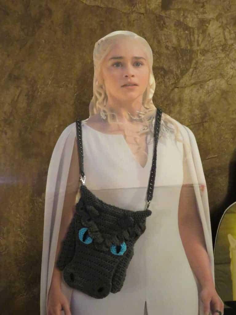 Frost Dragon Cross Body Bag   Dragon Purse crochet pattern mods
