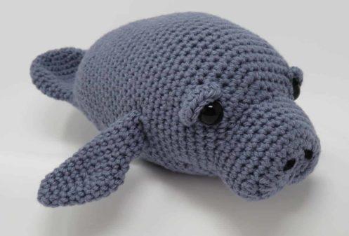 free manatee crochet pattern amigurumi | Hooked by Kati