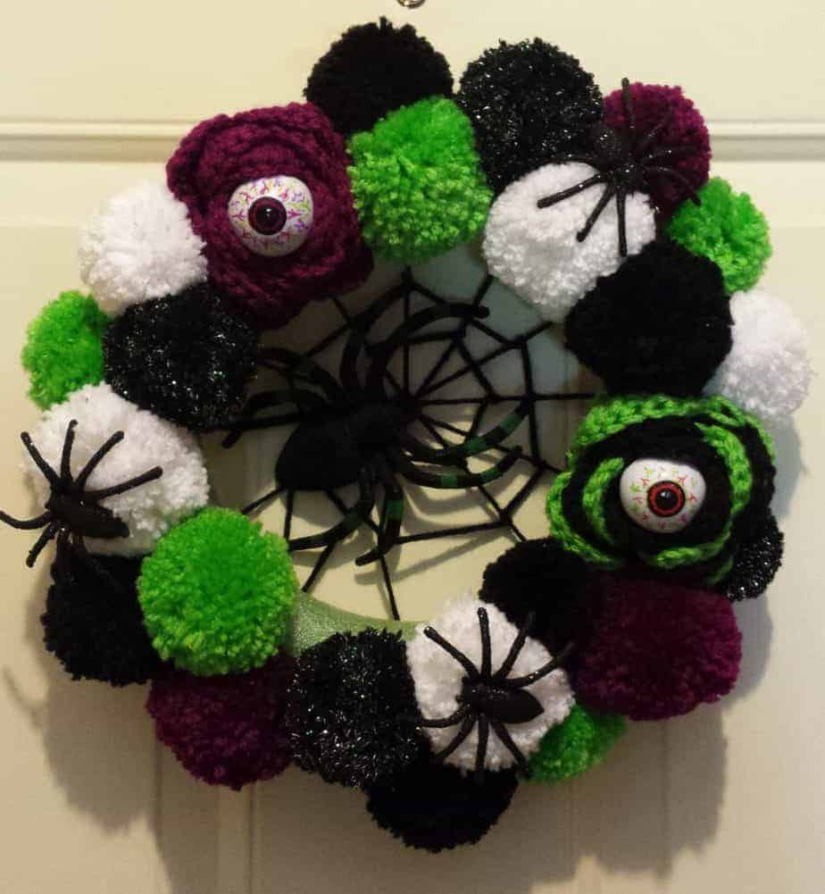 Halloween Wreath Hooked by Kati