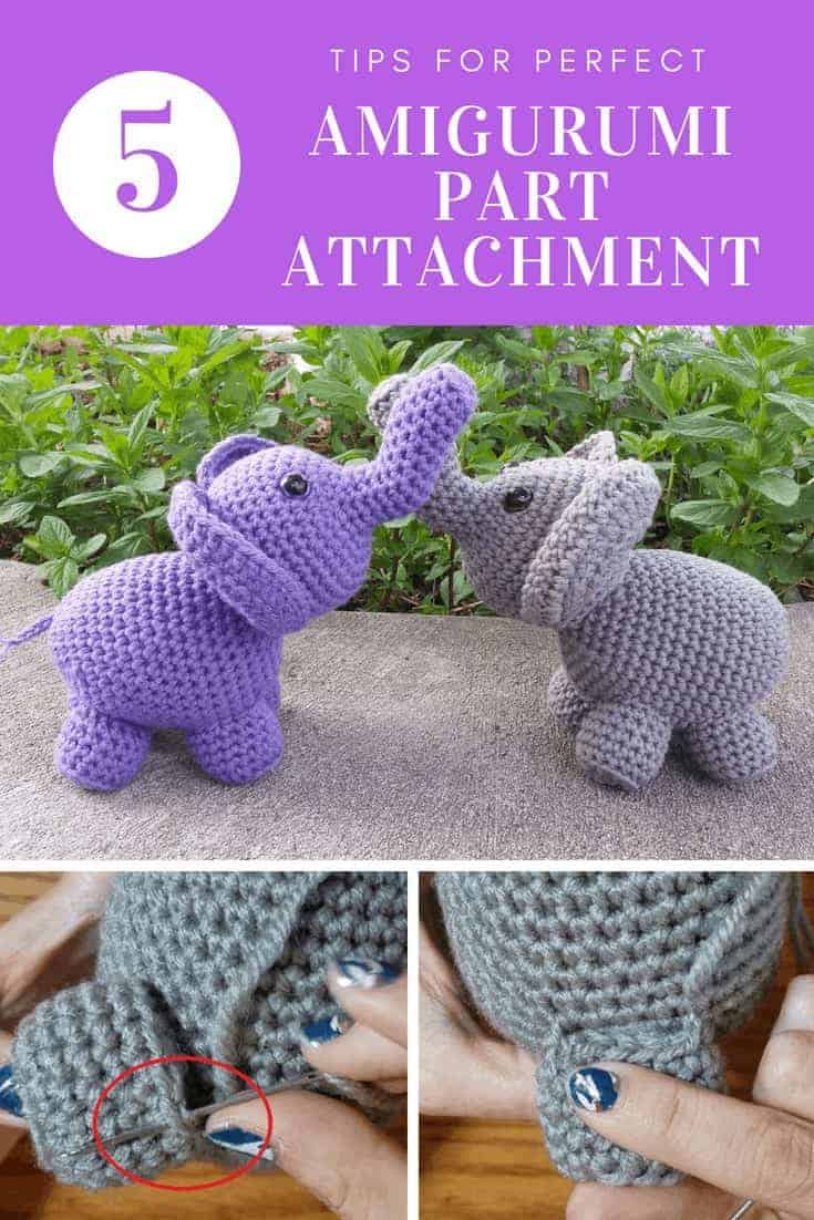 perfect amigurumi part attachment | Hooked by Kati