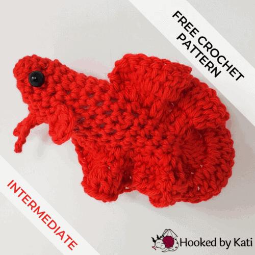 free crochet betta fish pattern feature image