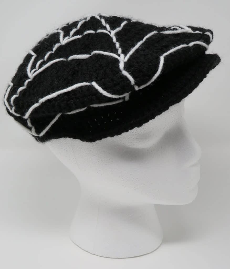 Spider Web Newsboy Hat | Premium Pattern | Hooked by Kati