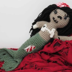 Zombie Mermzombie mermaid amigurumi free crochet pattern | Hooked by Katiaid crochet pattern printable .pdf | Hooked by Kati