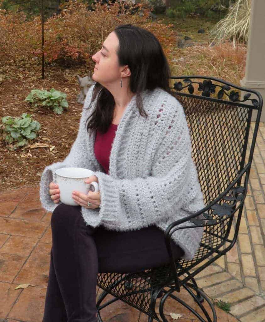 first now cardigan | free crochet pattern | hooked by kati