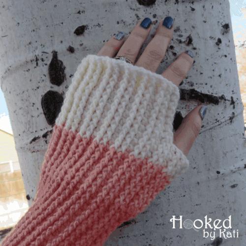 favorite sweater fingerless gloves mitts free crochet pattern   Hooked by Kati