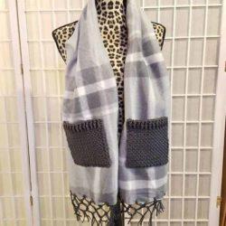 mixed media fleece scarf | free crochet pattern