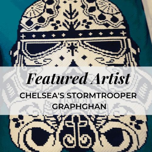 stormtrooper graphghan blanket featured artist