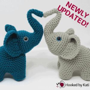 Elephants in Love premium crochet pattern pdf Hooked by Kati