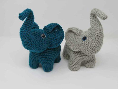 elephants in love amigurumi crochet pattern, printable .pdf