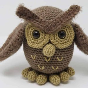 hygge owl amigurumi crochet pattern, printable pdf