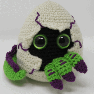 hatching dragon egg amigurumi crochet pattern, premium printable pdf
