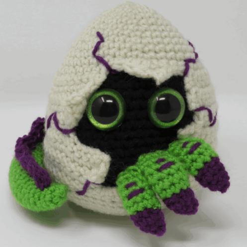 hatching dragon egg amigurumi crochet pattern, premium printable pdf
