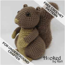 Hygge Squirrel free amigurumi crochet pattern for Underground Crafter