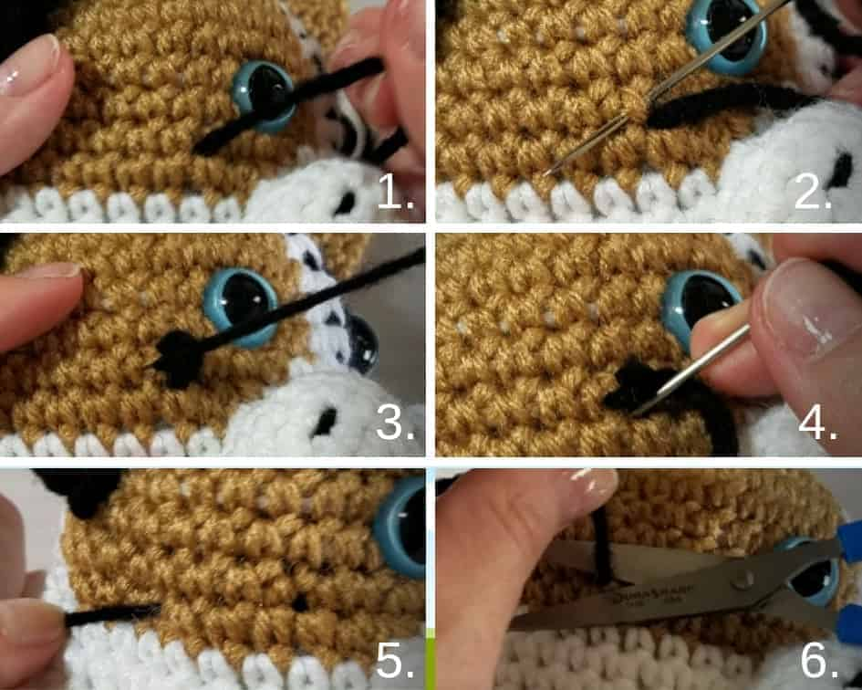 Binding Off Embroidered Details on Amigurumi| Video Tutorial