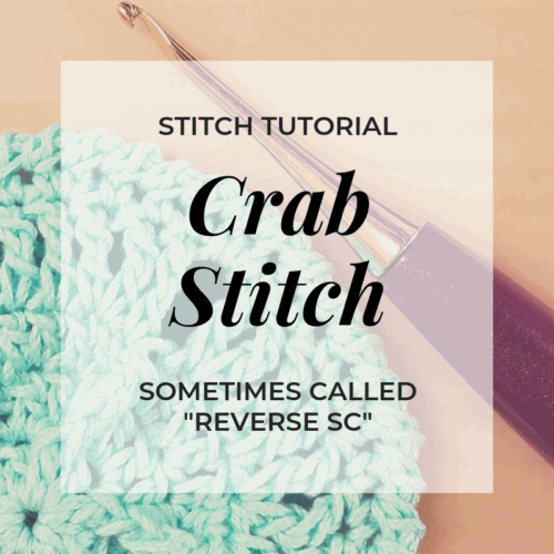crab stitch video tutorial Hooked by Kati