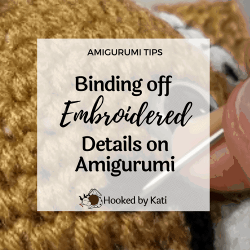 Weaving in ends on a white amigurumi