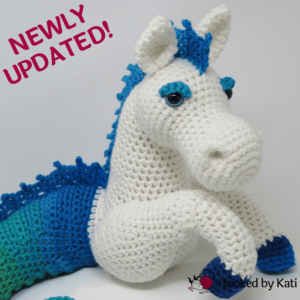 Murdock the Kelpie premium crochet pattern pdf Hooked by Kati