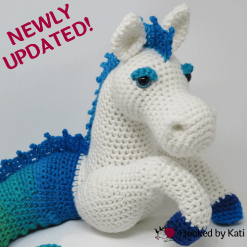 Murdock the Kelpie premium crochet pattern pdf Hooked by Kati