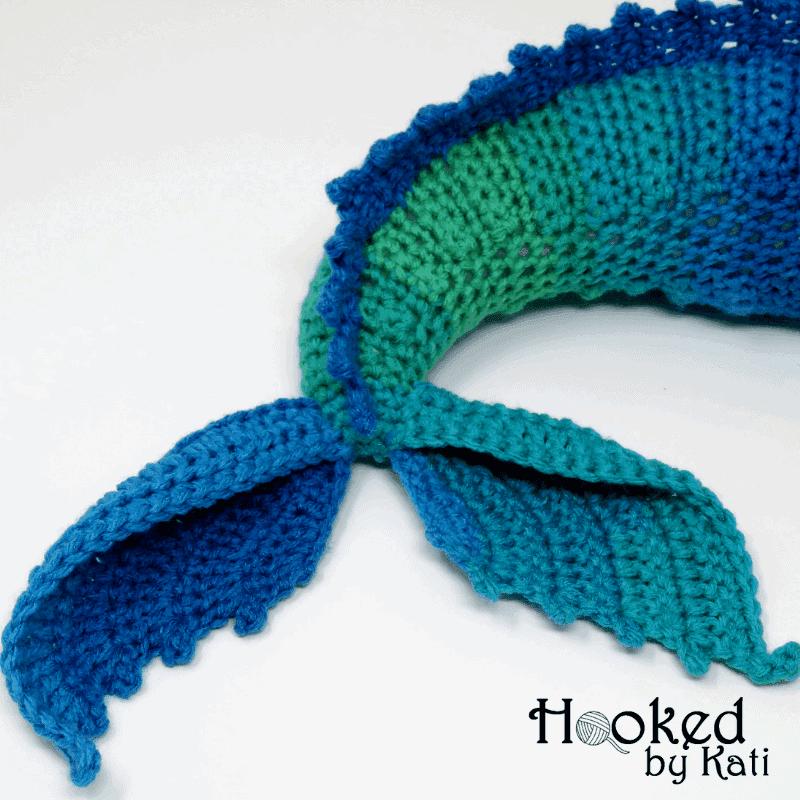 free kelpie crochet pattern, mermaid tail horse Hooked by Kati