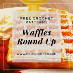 waffles crochet pattern round up hooked by kati