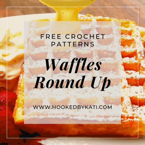 waffles crochet pattern round up hooked by kati