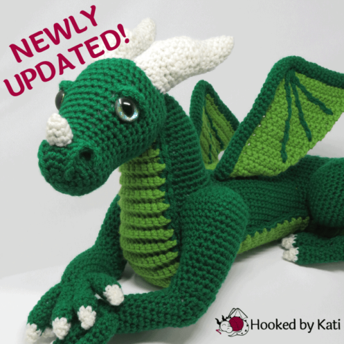 Vincent the Dragon premium pattern pdf Hooked by Kati