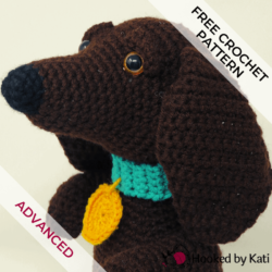 Schnitzel the Dachshund amigurumi free crochet pattern
