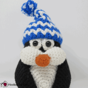 Pudgy the Penguin Premium Crochet Pattern from Hooked by Kati
