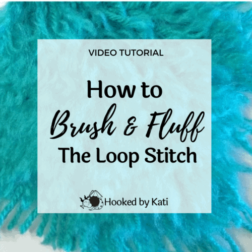 how to brush and fluff loop stitches on crochet amigurumi