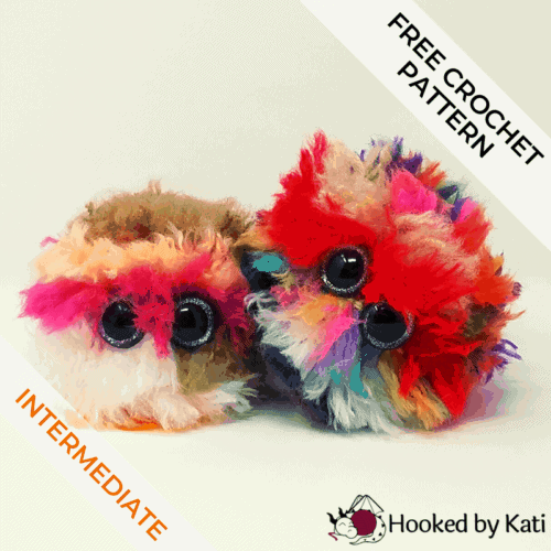 Worry Pet Amigurumi Free Crochet Pattern - Hooked by Kati