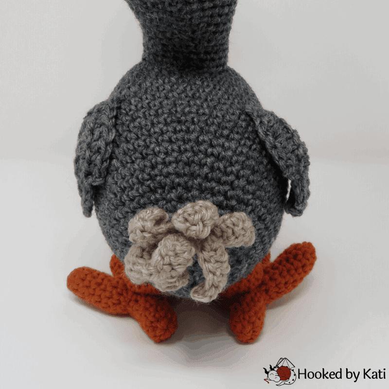 Lewis the Dodo Bird free amigurumi crochet pattern from Hooked by Kati