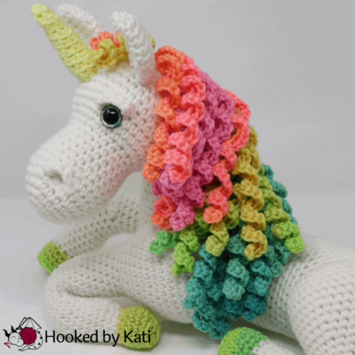 Ulyssa the Unicorn Premium Crochet Pattern, printable pdf