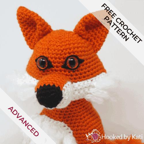 Clark the Fox free amigurumi crochet pattern - Hooked by Kati
