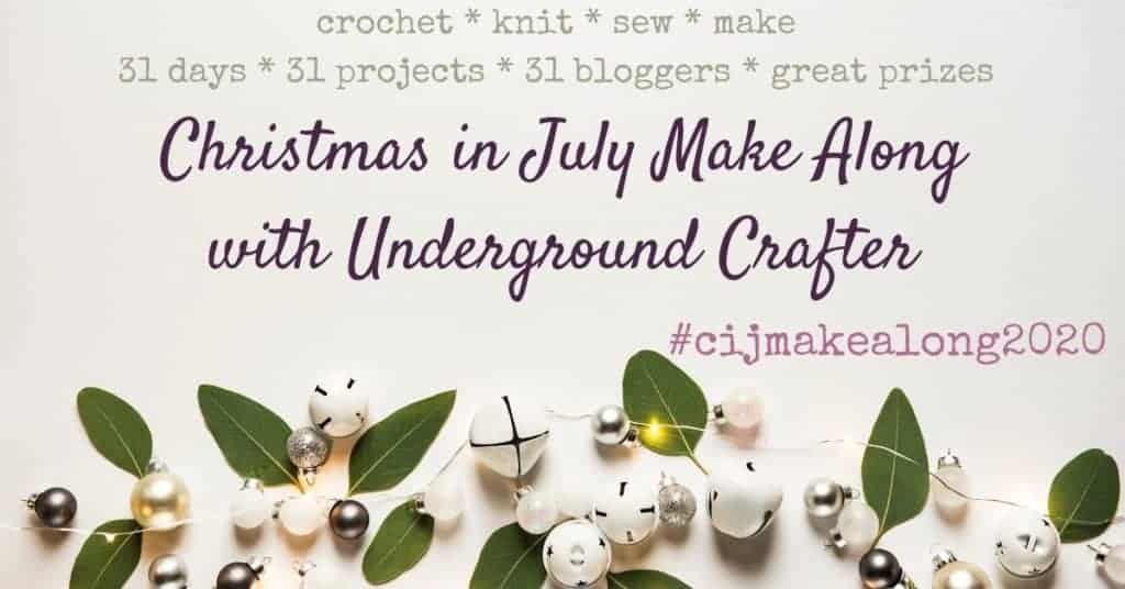 Free crochet pattern   Indoor Snowballs   Beginner   Underground Crafter Christmas in July CAL