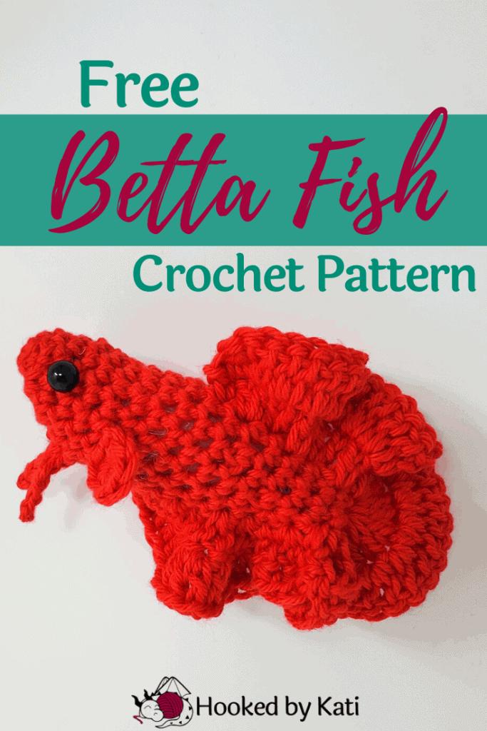 Free Betta Fish Crochet Pattern, from Hooked by Kati pin