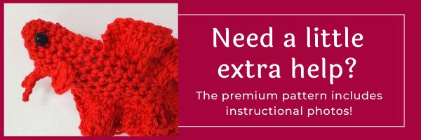 link to premium pattern betta fish crochet pattern