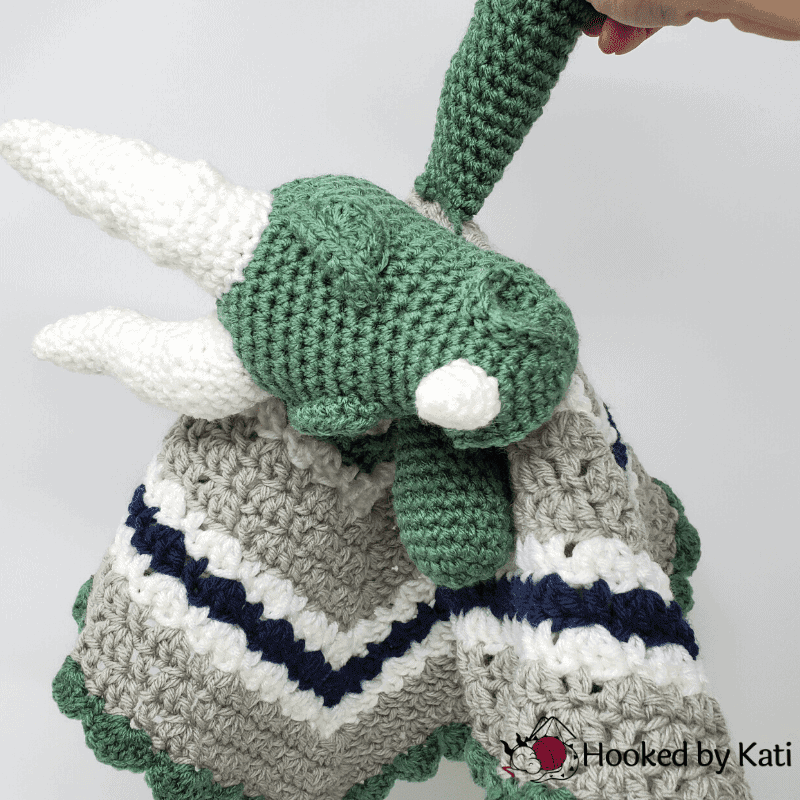 Sleepy Dragon Lovey crochet pattern, ebook collection, Hooked by Kati image