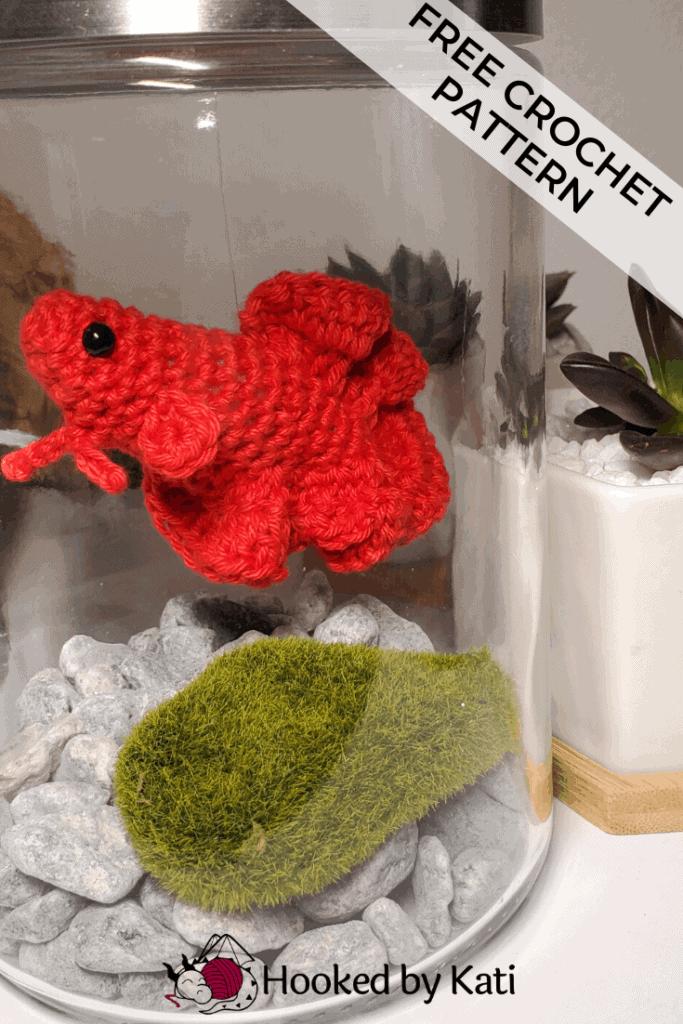 Free Betta Fish Crochet Pattern, pin